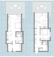 Apartment Floor Plan Sketch vector image