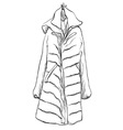 Woman coat for winter Clothes sketch vector image