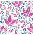 Pink flowers seamless pattern background vector image