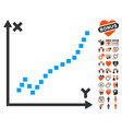 function plot icon with lovely bonus vector image