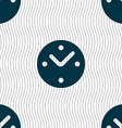 Mechanical Clock icon sign Seamless pattern with vector image