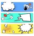 Comic speech bubble web header set with vector image vector image