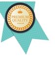 Gold Premium Quality Label vector image