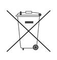 No big trash bin icon vector image