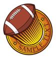 american football club emblem vector image