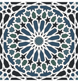 Arabesque seamless pattern in blue and black vector image