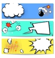 Comic speech bubble web header set with vector image