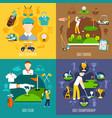 golf game flat design concept vector image
