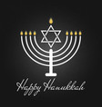 happy hanukkah is a jewish holiday traditional vector image