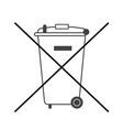 No big trash bin icon vector image