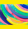 painting background of a colorful brush stroke vector image