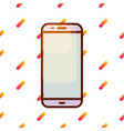 smartphone icon on gradient memphis pattern vector image