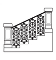 Stair railing vector image