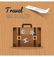 travel suitcase retro airplane design vector image