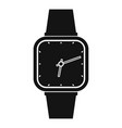 wristwatch retro icon simple black style vector image