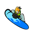 Close-up of man on surfboard vector image vector image