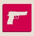 gun sign grayscale version vector image