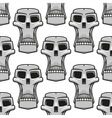 Seamless pattern of spooky Halloween skulls vector image vector image