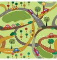 cartoon seamless pattern with cars vector image vector image