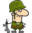 Soldier cartoon vector image