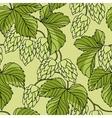 Hop Ornament On Green Grunge Background vector image vector image