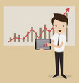 businessman proudly present growing business vector image