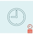 Clock icon isolated vector image