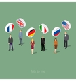 Concept of business travel or studying languages vector image