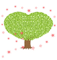 Green tree with heart shaped crown vector image