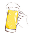 Lager beer mug in hand vector image