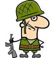 Soldier cartoon vector image