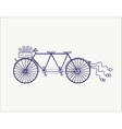 Wedding Vintage tandem bicycle icon vector image