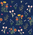 wildflowers background vector image