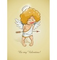 angel cupid for valentines vector image vector image