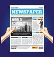 world economic newspaper composition vector image
