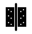accesories for door the black color icon vector image