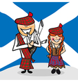 Welcome to Scotland people vector image vector image