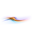abstract shape blue orange wave dis vector image