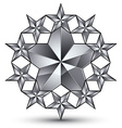 Glamorous rounded template with pentagonal silvery vector image