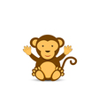 Simple monkey character vector image