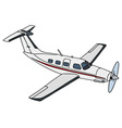 White propeller airplane vector image