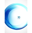 blue wave sphere vector image