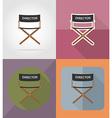 cinema flat icons 02 vector image vector image