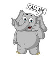 cartoon call me wants you to call vector image