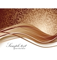 Floral background in brown color vector image