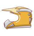 motorcycle helmet icon cartoon style vector image