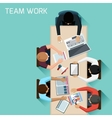 Office workers on meeting and brainstorming vector image