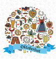 Oktoberfest elements set vector image