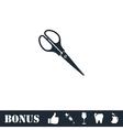 Scissors icon flat vector image