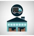 warehouse building delivery van service vector image